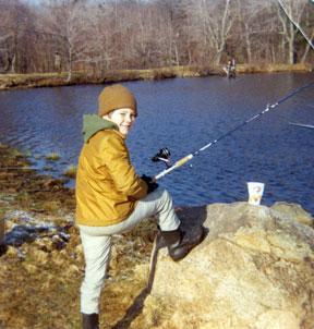 The writer as a young sportsman. (Dad always cleaned the fish. Hmmm ...)